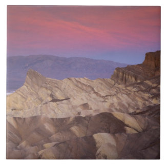 Mornings first light on  Zabriskie Point and 2 Ceramic Tile
