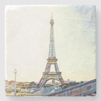 Mornings in Paris. Stone Beverage Coaster