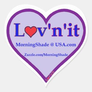 MorningShade logo Heart Sticker