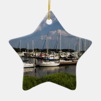 Morningstar Marina Sailboats Georgia USA Ceramic Star Decoration