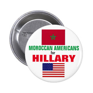Moroccan  Americans for Hillary 2016 6 Cm Round Badge