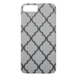 Moroccan Black and Gray iPhone 7+ iPhone 7 Plus Case
