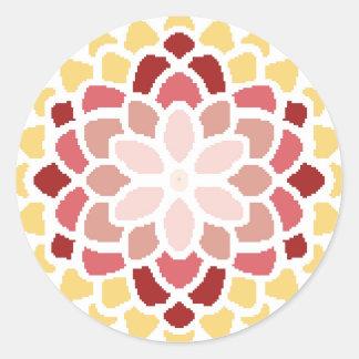 Moroccan Bloom Round Sticker