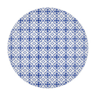 Moroccan Blue Cutting Board