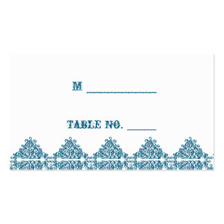 Moroccan Blue Damask Wedding Place Cards Pack Of Standard Business Cards
