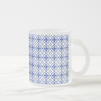 Moroccan Blue Frosted Glass Coffee Mug