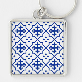 Moroccan Blue Key Ring
