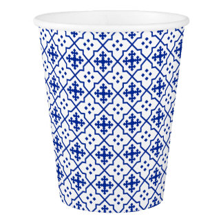 Moroccan Blue Paper Cup