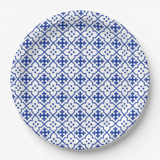 Moroccan Blue Paper Plate