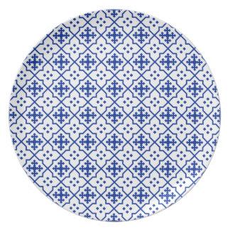 Moroccan Blue Plate