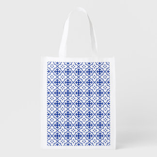 Moroccan Blue Reusable Grocery Bag