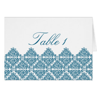 Moroccan Blue Table Number Card