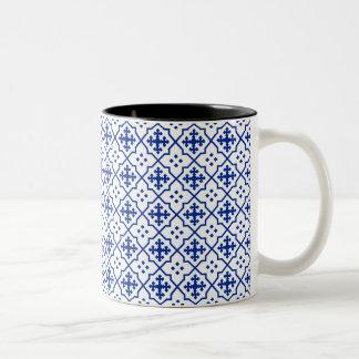 Moroccan Blue Two-Tone Coffee Mug
