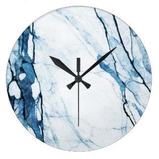Moroccan Blues Large Clock