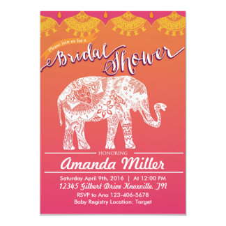 Moroccan Bridal Shower - Indian Inspiration 13 Cm X 18 Cm Invitation Card