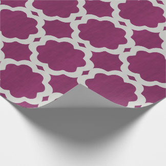 Moroccan Burgundy Wrapping Paper