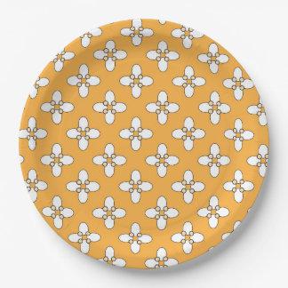 """Moroccan design 9"""" paper plate"""