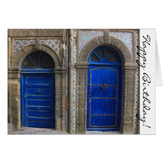 Moroccan Doors Happy Birthday Card