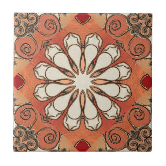 Moroccan Earth Patterned Geometric Ceramic Tile
