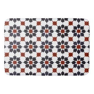 Moroccan Eight Point Star Pattern Bath Mat