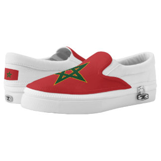 Moroccan flag Slip-On shoes