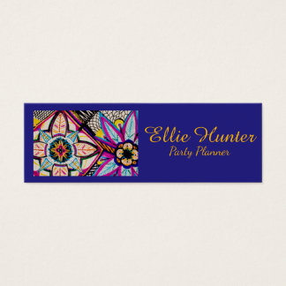 Moroccan Floral Custom Business Cards