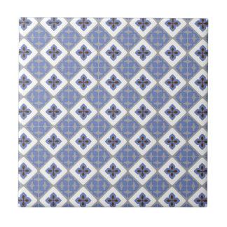 Moroccan Floral Tile Pattern Lilac Grey Brown