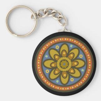 Moroccan Flower Keychain