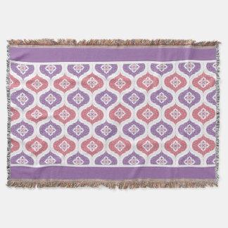 Moroccan geometric shape pattern throw rug