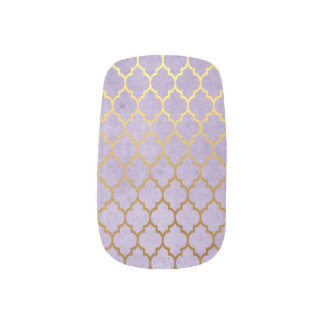 Moroccan Gold Mauve Purple Nail Art