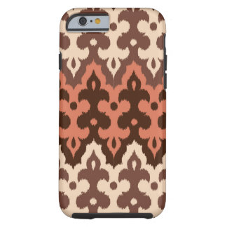 Moroccan Ikat Damask, Brown, Taupe & Rust Tough iPhone 6 Case
