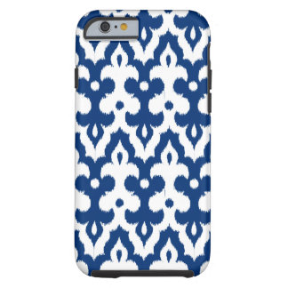 Moroccan Ikat Damask Pattern, Cobalt Blue & White Tough iPhone 6 Case