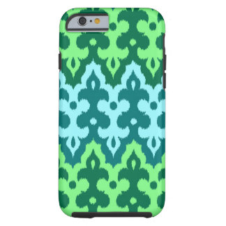 Moroccan Ikat Damask, Turquoise & Jade Green Tough iPhone 6 Case
