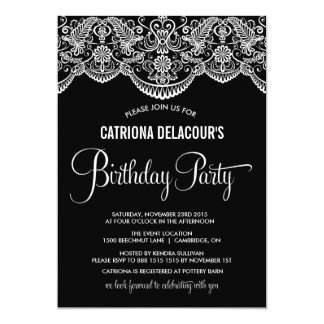 Moroccan Lace Pattern Birthday Party Invitation