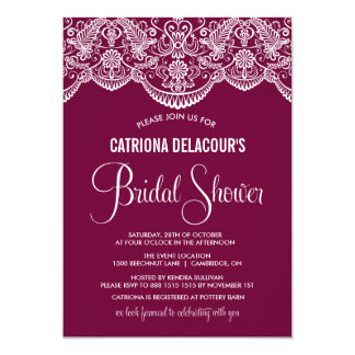 Moroccan Lace Pattern Bridal Shower Invitation