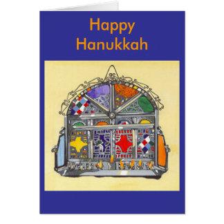 Moroccan Lamp Scan 2, Final Art, Happy Hanukkah Card