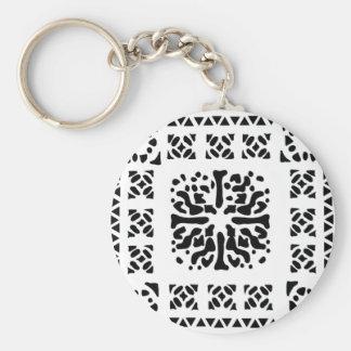Moroccan Lantern Pattern Basic Round Button Key Ring
