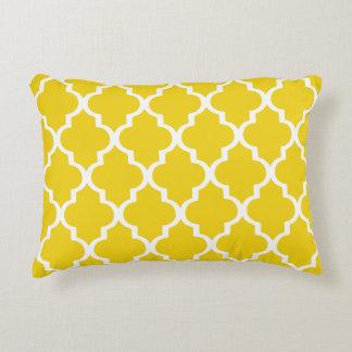 Moroccan Lattice Pattern Pillow - Lemon Yellow