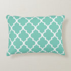 Moroccan Lattice Pattern Pillow - Turquoise