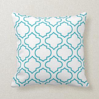 Moroccan Lattice Pillow - Turquoise