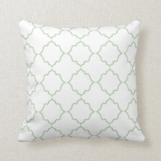 Moroccan Mint with White Cushion