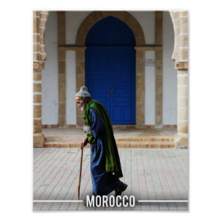 Moroccan Old Man - Essaouira Morocco Poster