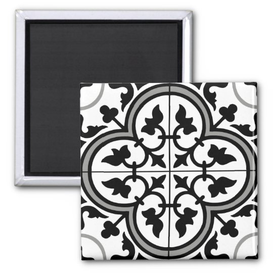 Moroccan Ornamental Tile Pattern Magnet