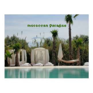 moroccan paradise postcard