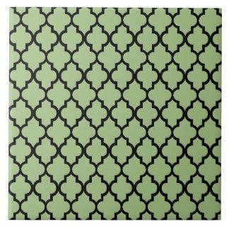 Moroccan pattern ceramic tile
