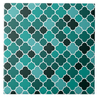 Moroccan pattern large square tile
