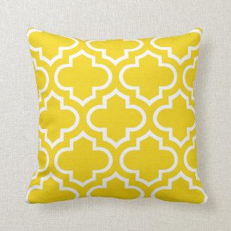 Moroccan Pattern Pillow in Lemon Yellow