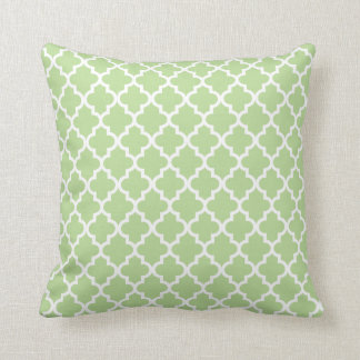 Moroccan Pattern   Sage Green Cushion