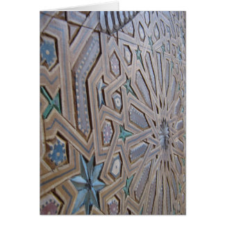 Moroccan Patterns Card