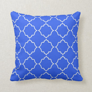 Moroccan Peacock Blue Cushion